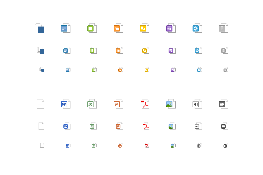 Screenshot filetype icons